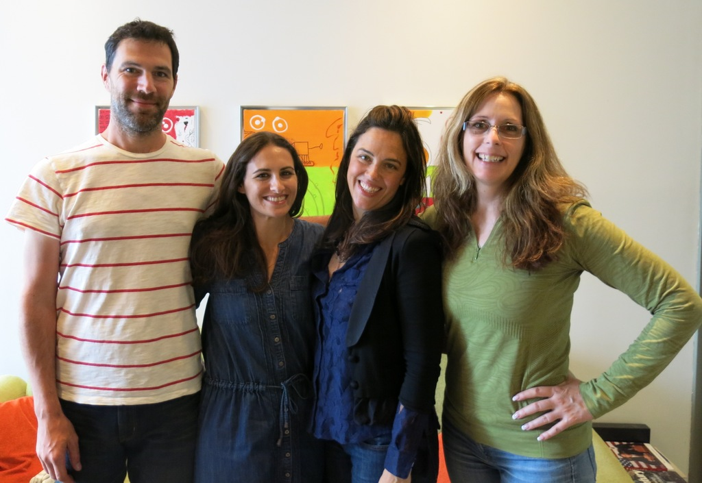 Charles of CDM studios, Jen & Cheryl from the marketing team, and the wonderful Laurie Halse Anderson