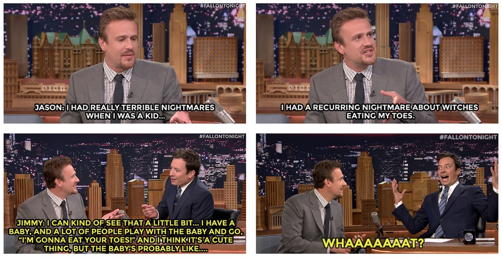 Jason also shared this story on The Tonight Showwith Jimmy Fallon.