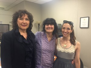 Director May Wuthrich, Ruth Reichl, and producer Julie Wilson