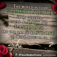 Share your excitement about #TheseShallowGraves on Facebook and Twitter.