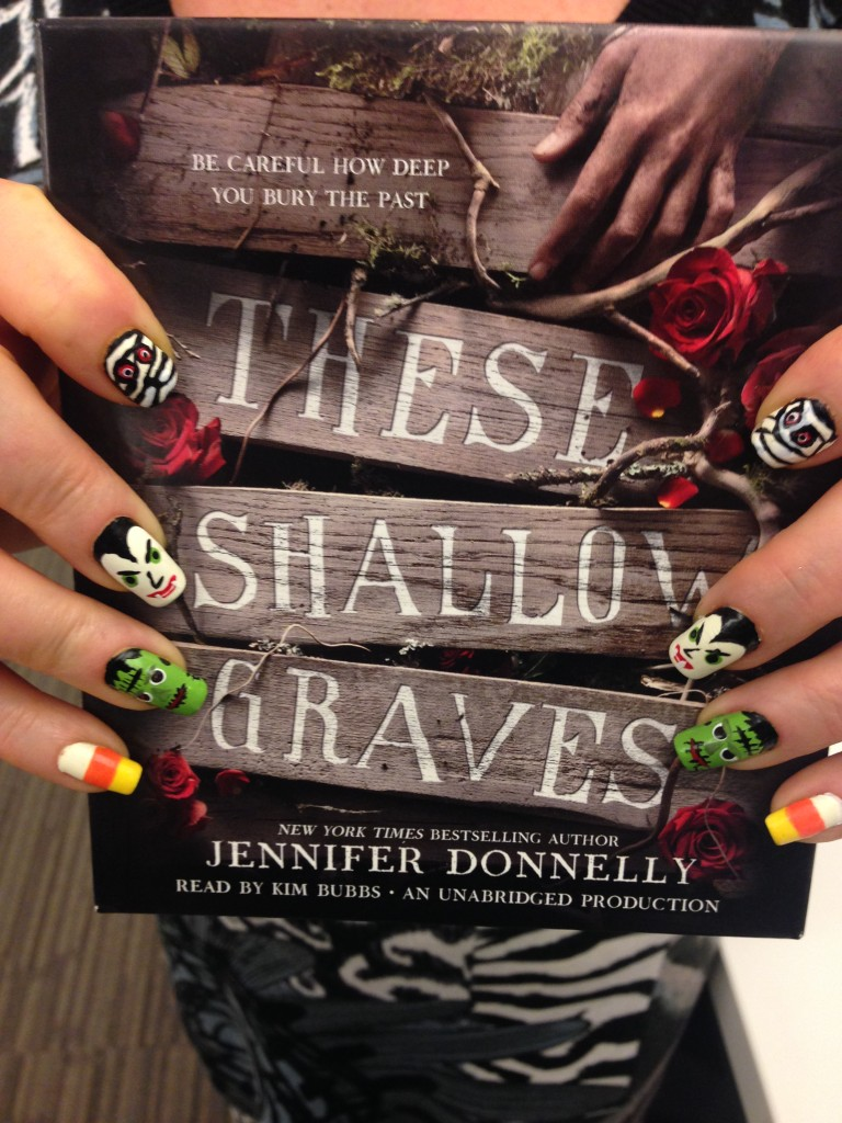 Jodie's #TheseShallowGraves inspired nail art!