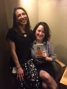 Helen with audiobook producer Julie Wilson.