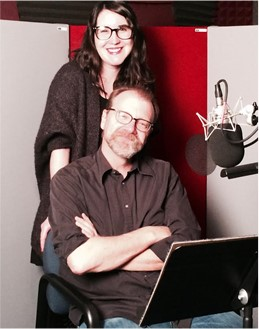 George Saunders and producer Kelly Gildea