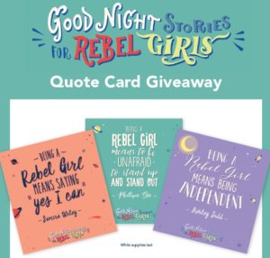 Rebel Girls quote cards
