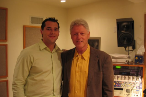 Dan Zitt and President Bill Clinton