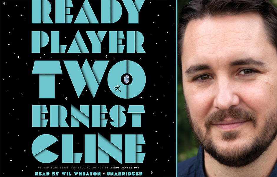 Wil Wheaton with Ready Player Two cover