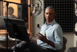 Barack Obama in the studio