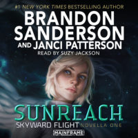 Sunreach audiobook cover with woman's face